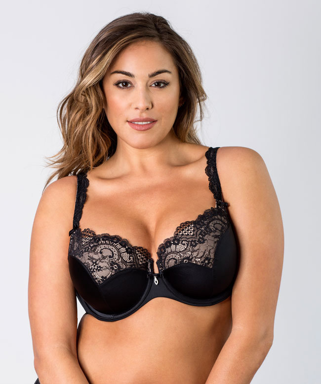 b98ec5805be Curvy Couture Tulip Lace Push Up Bra