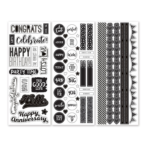 Black and White Stickers (3/pk)