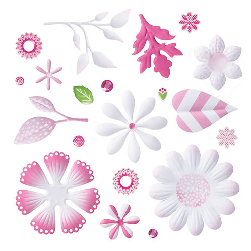Mix & Match Pink Bouquet Embellishments