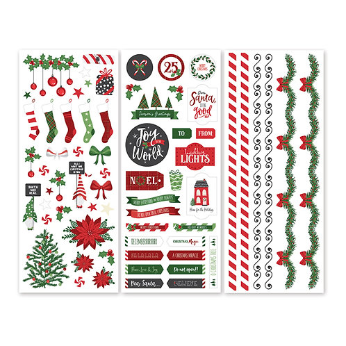 Merry Little Christmas Stickers (3/pk)