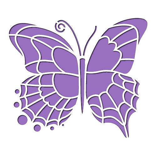 Flip Flop Butterfly Stencil