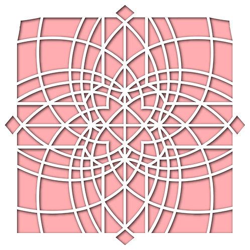 Kaleidoscope Stencil