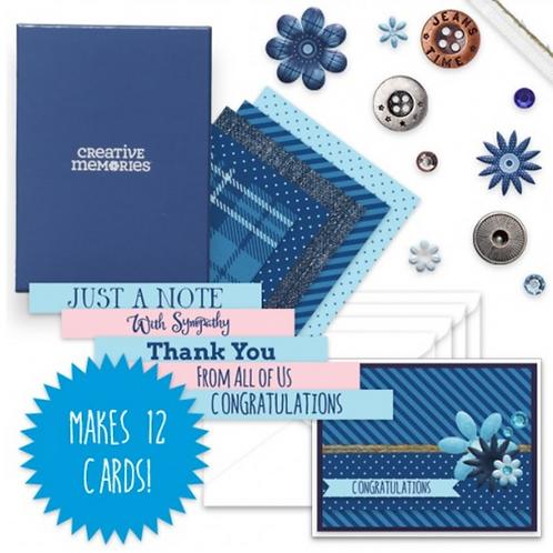 Denim Blues Card Kit