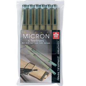 Sakura Micron - Black - Pack of 6