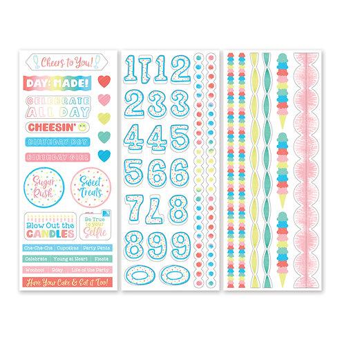 Happy BirthYAY Stickers (3/pk)