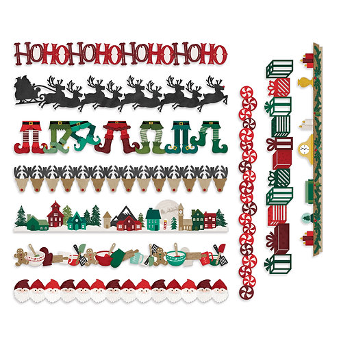 Christmas Spirit Laser Cut Borders