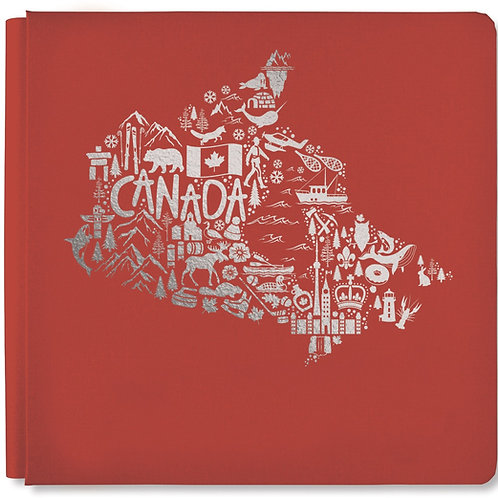 Iconically Canadian Antique Red 12x12 Album Cover