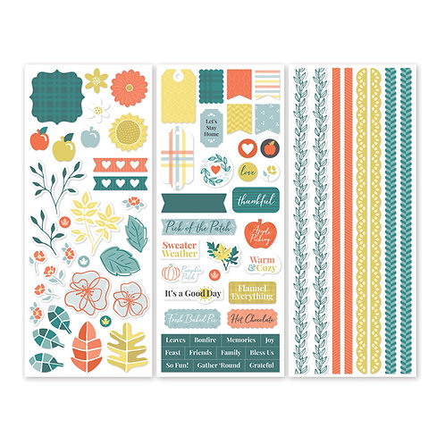 Harvest Delight Stickers (3/pk)