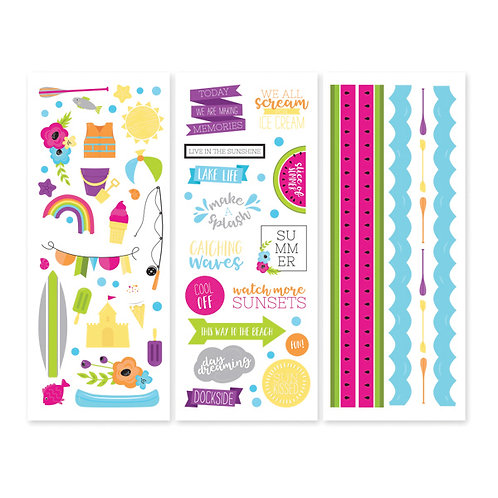 Slice of Summer Stickers (3/pk)