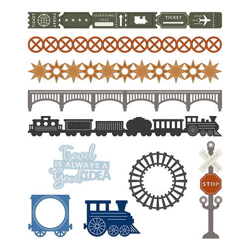 Trains Laser Cut Embellishments
