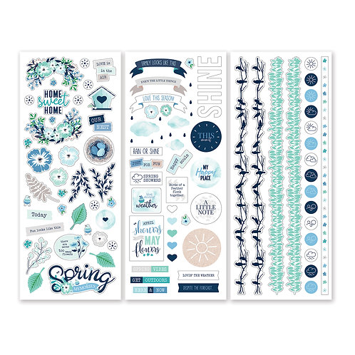 Spring Medley Stickers (3/pk)