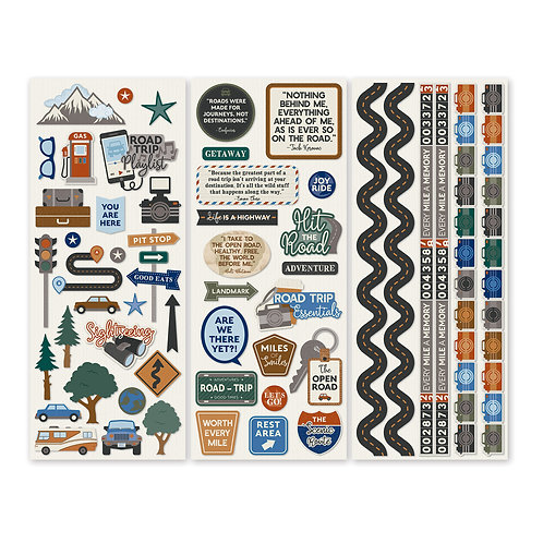 Trains Stickers (3/pk)