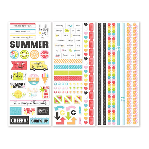 Citrus Summer Stickers (3/pk)