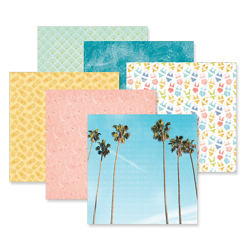 Sun-Kissed Travel 12x12 Paper Pack (12/pk)