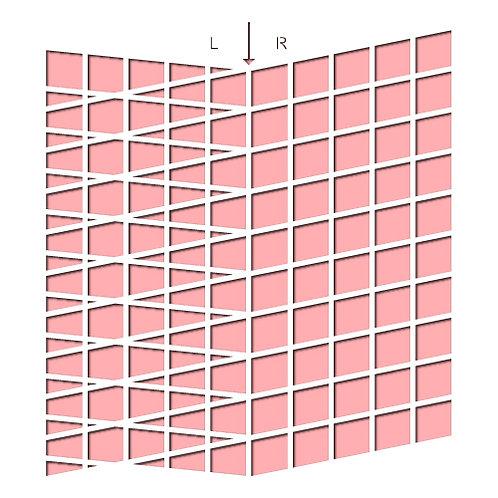 Slanted Grids Stencil