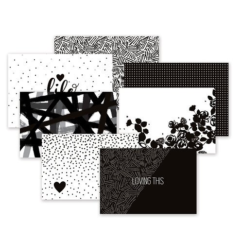 Black and White Variety Mat Pack