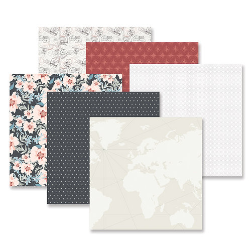 Travel Log Paper Pack (12/pk)