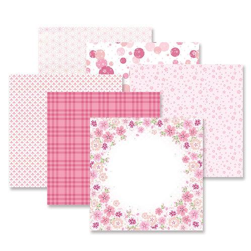 Botanical Burst Pink Paper Pack (12/pk)