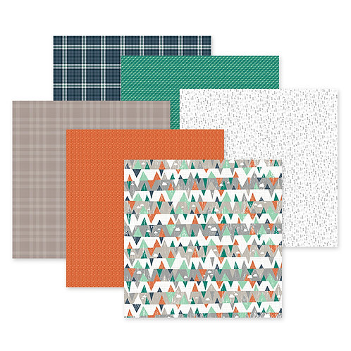 Woodland Whimsy Baby Boy 12x12 Paper Pack (12/pk)