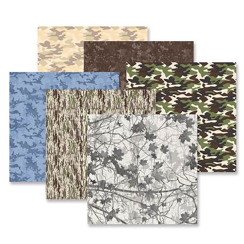 Camouflage Paper Pack (12pk)