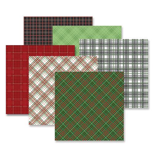 Festive Plaid Paper Pack (12/pk)
