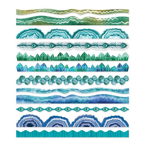 Emerald Gemstone Border Embellishments