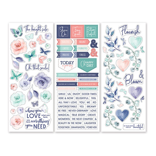 Flourish Stickers (3/pk)