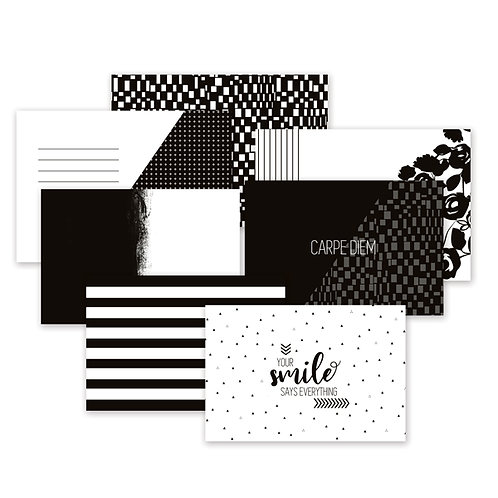 Black and White Variety Mat Pack