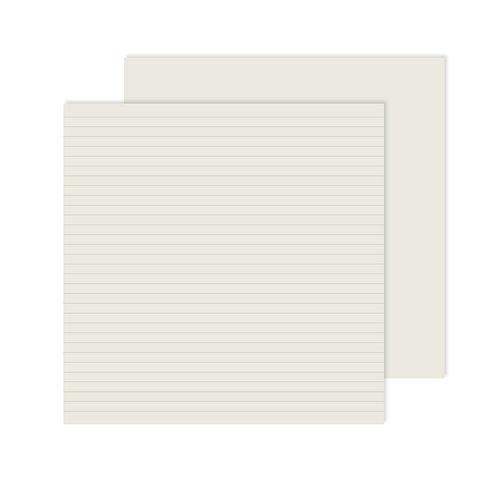 White Lined Designer Paper Pack (12pk)