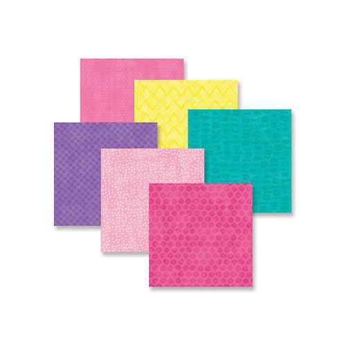 Super Duper Girl Tone-on-Tone 8x8 Paper Pack (12/pk)