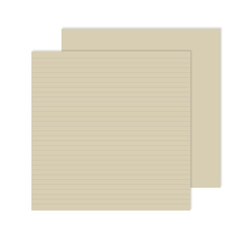 Natural Lined Designer Paper Pack (12pk)