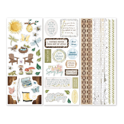 Spring Cottage Stickers (3/pk)