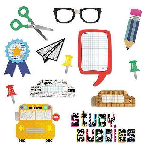 Study Buddies Embellishments