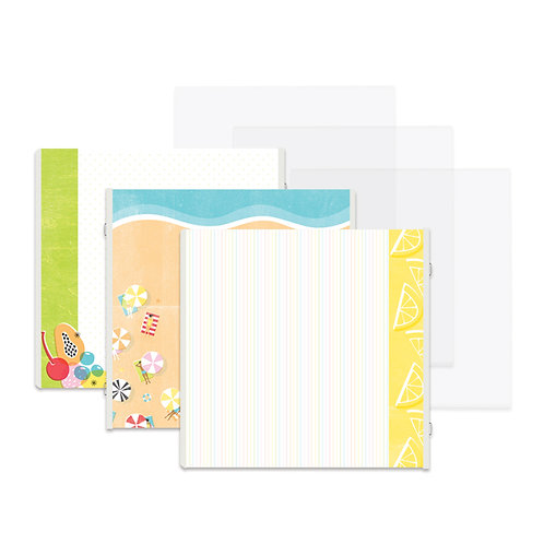 Citrus Summer Fast2Fab™ 12x12 Refill Pages and Protectors