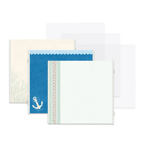 Deep Sea Blue 12x12 Fast2Fab™ Refill Pages and Protectors