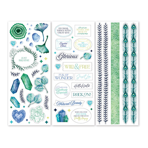 Emerald Gemstone Stickers (3/pk)