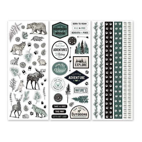 Beneath the Pines Stickers (3/pk)