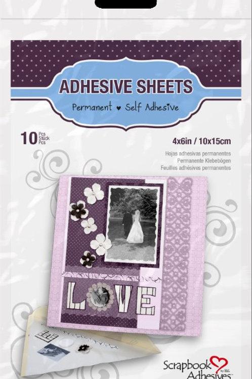 """Adhesive Sheets - 4"""" x 6"""" / 10 x 15cm (10 sheets)"""