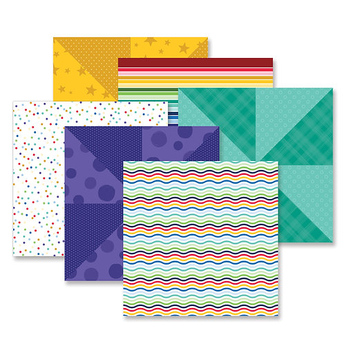 Fresh Fusion Rainbow Paper Pack (12pk)