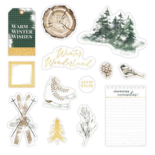 Winter Woods Foiled Embellishments