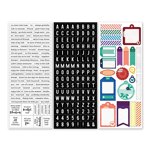 Rainbow Rush Word and Tag Stickers (3/pk)