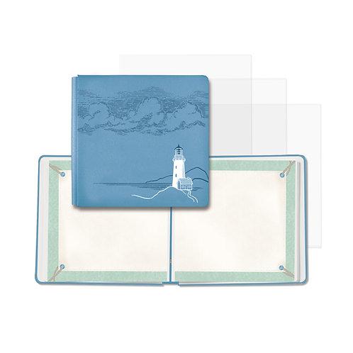 Deep Blue Sea 12x12 Storm Blue Fast2Fab Album (Bookcloth)