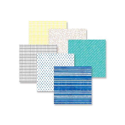 Super Duper Boy Tone-on-Tone 8x8 Paper Pack (12/pk)