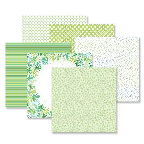 Botanical Burst Green Paper Pack (12/pk)