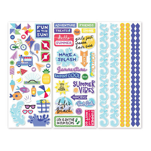 Electric Summer Stickers (3/pk)