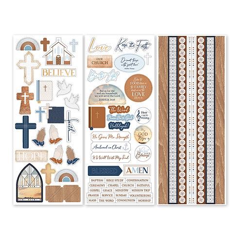Keep the Faith Stickers (3/pk)