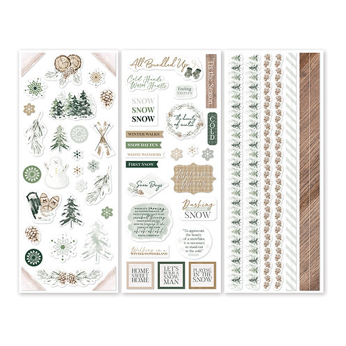 Winter Woods Stickers (3/pk)
