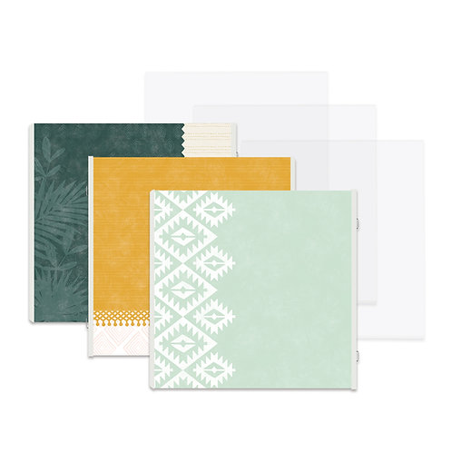 Boho Escape Fast2Fab™ 12x12 Refill Pages and Protectors