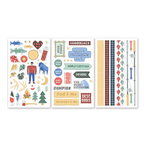 Lumberjack Stickers (3/pk)