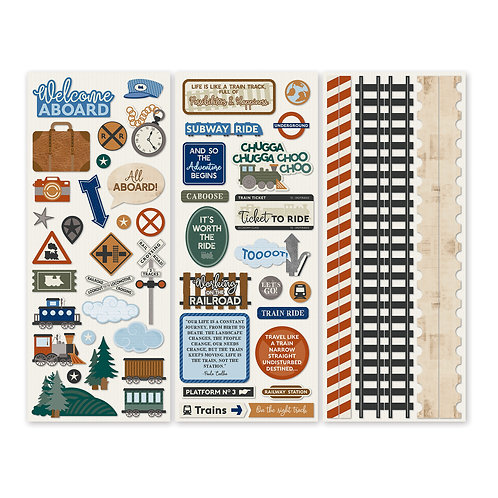 Trains Stickers (3/pk)
